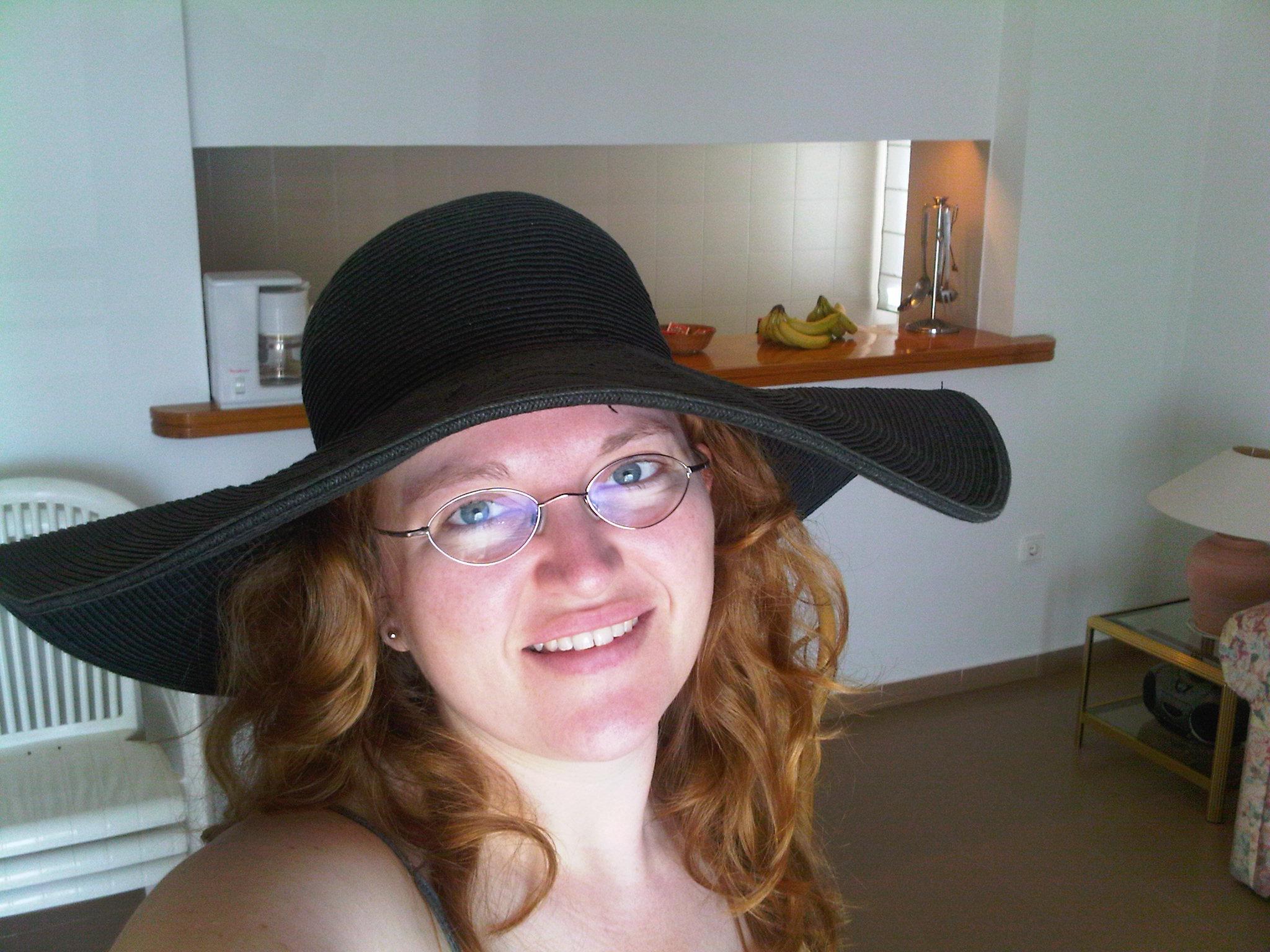 shauna big black hat- ibiza -april 2 10